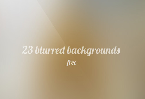 Blurred Backgrounds (23 Items)