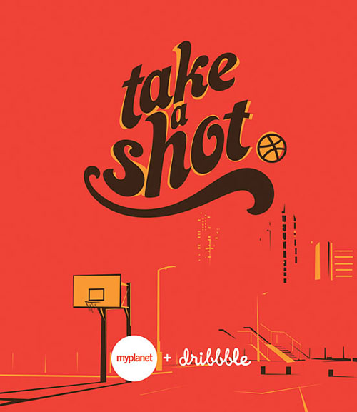 Take A Shot typography by Amit Jakhu