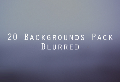 Blurred Backgrounds Pack (20 Items)