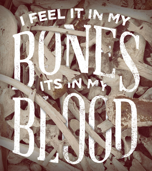 I Feel It In My Bones typography by Zac Jacobson