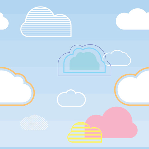 Seamless Cloud Pattern Vector Graphic
