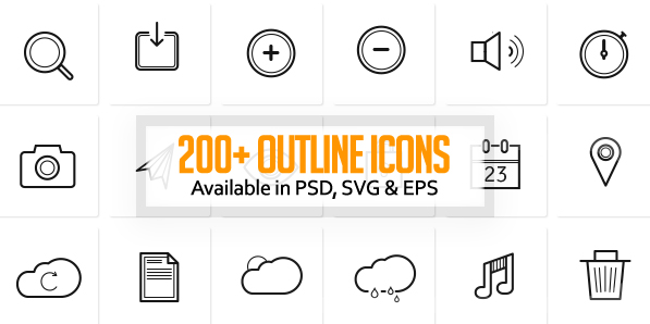 260+ Free Outline Icons For Designers