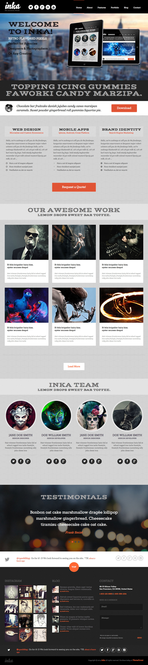 INKA - Retro Responsive WordPress Theme