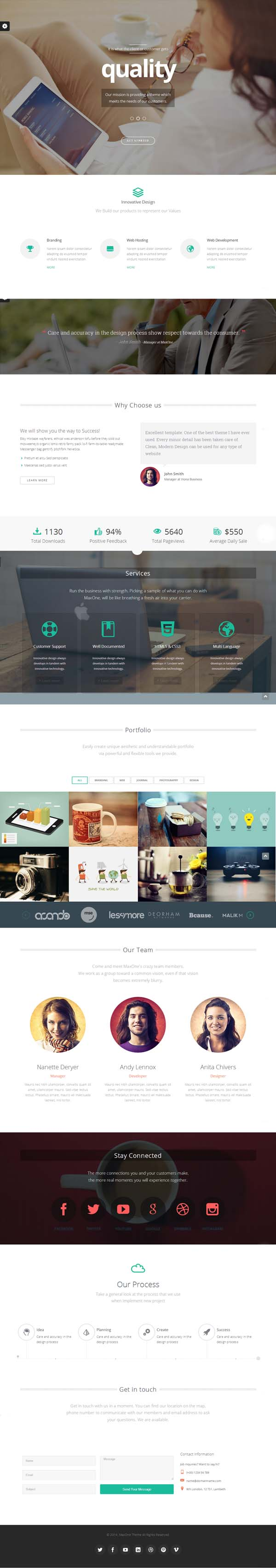 Maxone – Creative One Page Multi-Purpose Theme