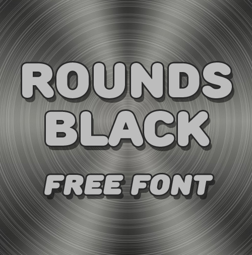 Rounds Black free fonts