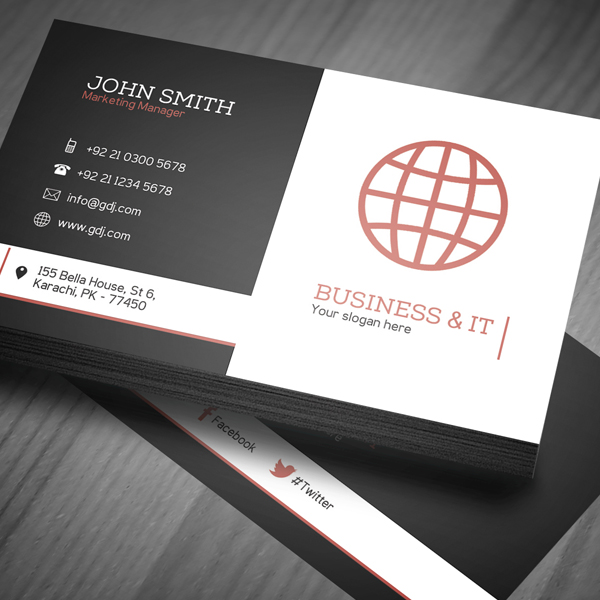 Corporate Business Card Template PSD -  1