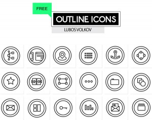 Outline icons set for your project