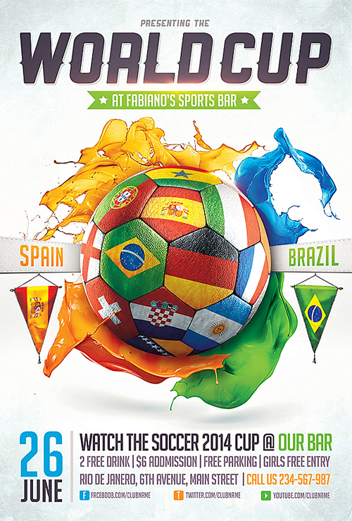 Fifa World Cup 2014 Flyer