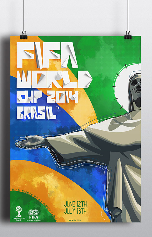 Fifa World Cup 2014 Brazil Poster