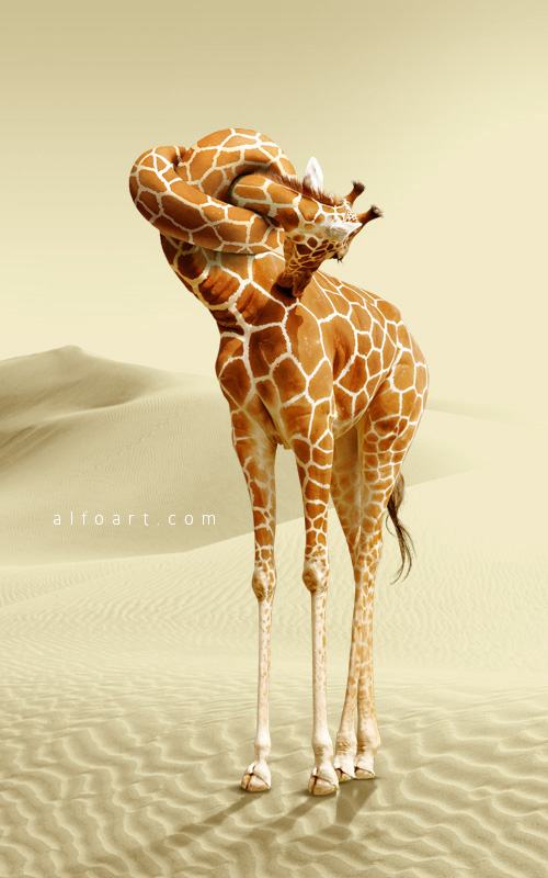 Giraffe Neck Knot Photoshop Tutorial. How to apply skin texture to the knot shape