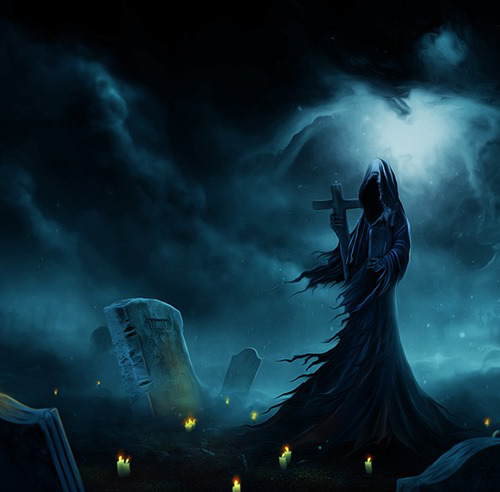Create an Eerie Photoshop Manipulation of a Dark Queen in a Cemetery