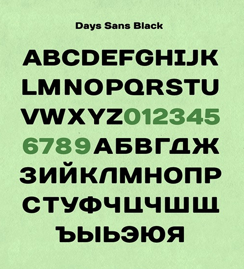 Days Sans free fonts letters for designers