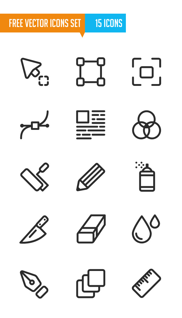 Free Vector Icons Set (15 Icons)