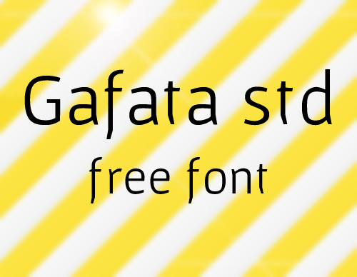 Gafata STD Free Fonts 2014