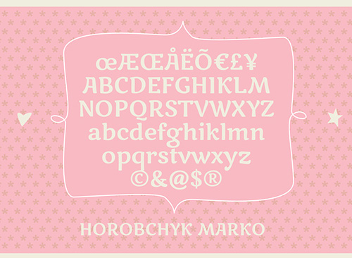 Marko One Free Font Letters