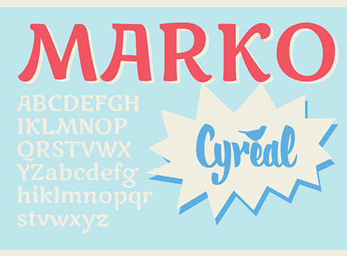 Marko One Free Fonts 2014