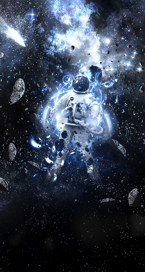 Outer Space Astronaut Photoshop Manipulation Tutorial