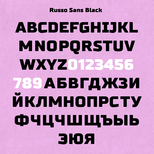 Russo Sans free fonts letters for designers