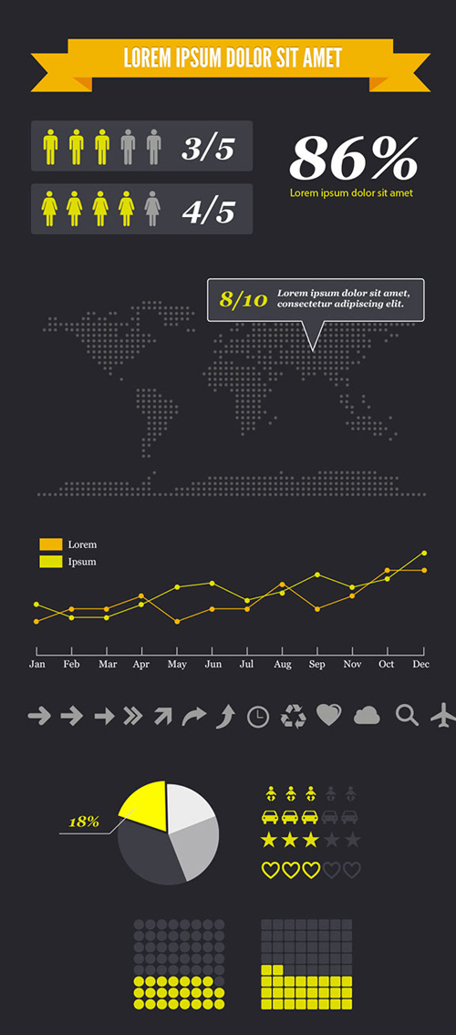 Free Infographics Vector Elements and Infographics Vector Graphics - 20