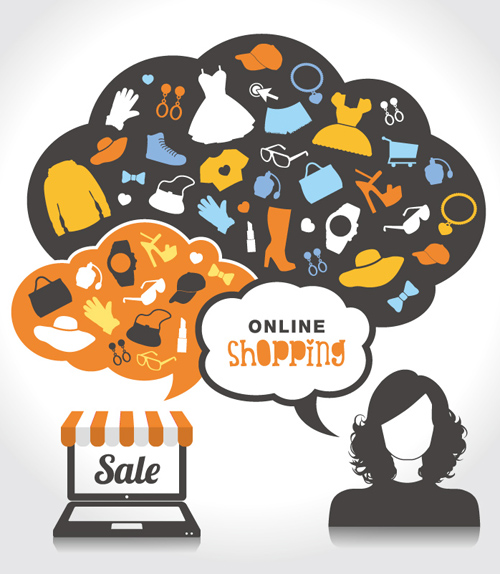 Online Shopping Sale Vector