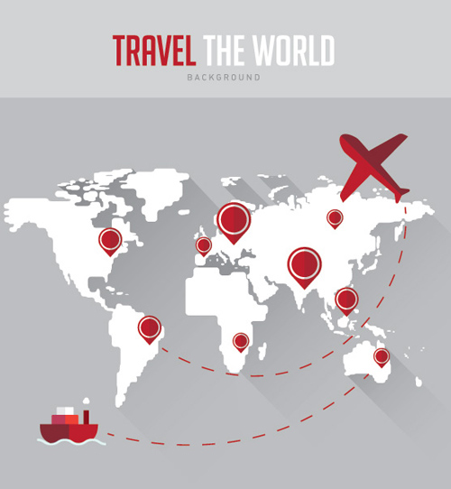 Travel Background Vector Graphic
