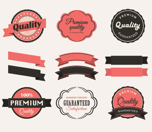 Vintage Labels Collection Vector Graphic