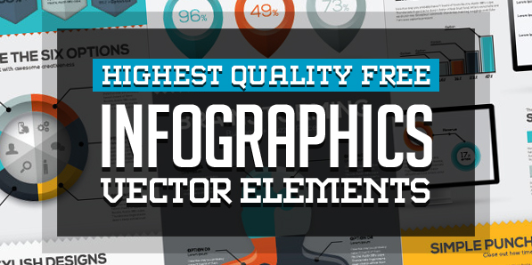 Free Infographics Vector Elements and Vector Graphics for Visual Designs