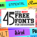 Post Thumbnail of 45 New Handpicked Free Fonts for Designers