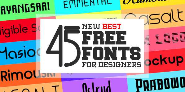 45 New Handpicked Free Fonts for Designers