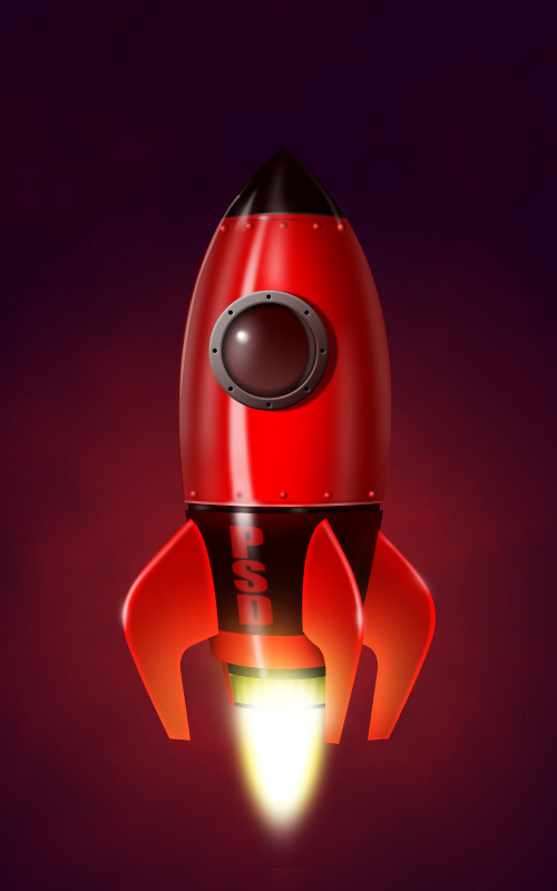 Learn How to Illustrate a Realistic Rocketship in Photoshop
