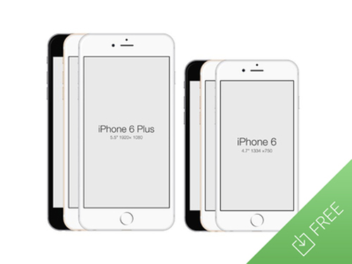 Free iPhone 6 and iPhone 6 Plus Mockup Templates (PSD, AI & Sketch) - Free Download - 10