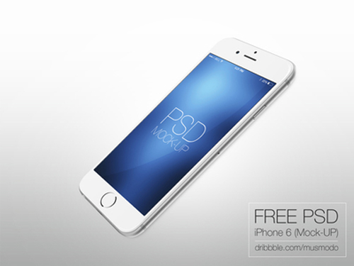 Free iPhone 6 and iPhone 6 Plus Mockup Templates (PSD, AI & Sketch) - Free Download - 17