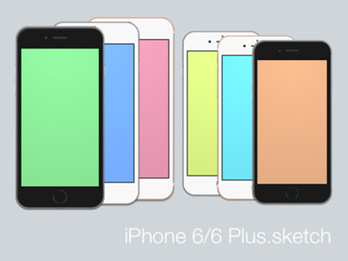 Free iPhone 6 and iPhone 6 Plus Mockup Templates (PSD, AI & Sketch) - Free Download - 21