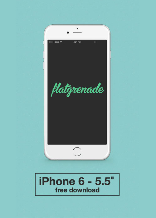 Free iPhone 6 and iPhone 6 Plus Mockup Templates (PSD, AI & Sketch) - Free Download - 40