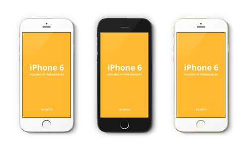 Free iPhone 6 and iPhone 6 Plus Mockup Templates (PSD, AI & Sketch) - Free Download - 46