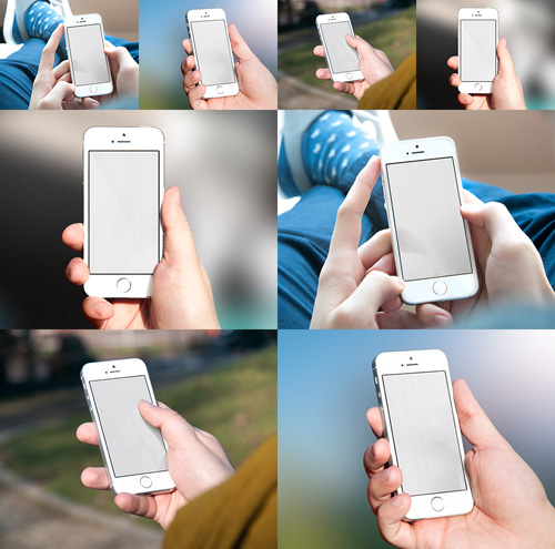 Free iPhone 6 and iPhone 6 Plus Mockup Templates (PSD, AI & Sketch) - Free Download - 49