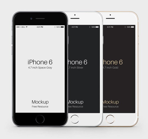 Free iPhone 6 and iPhone 6 Plus Mockup Templates (PSD, AI & Sketch) - Free Download - 50