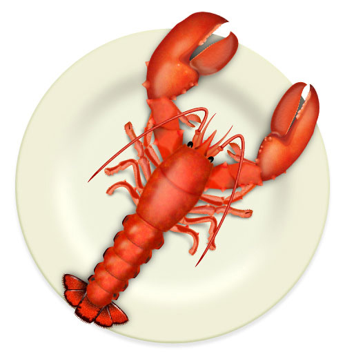 How to Create a Fresh Cooked Lobster on a Plate Illustrator Tutorial
