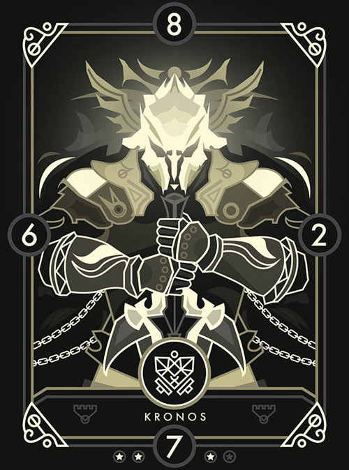 Create a Modern Fantasy Card Design for Eminence: Xander's Tales in Illustrator