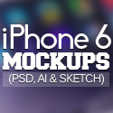 Post Thumbnail of 50 Free iPhone 6 and iPhone 6 Plus Mockups (PSD, AI & Sketch)