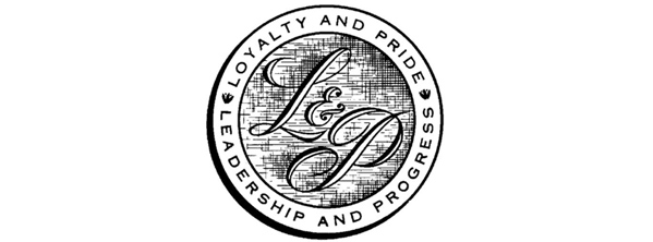 Logos with script fonts inscribed in a circle