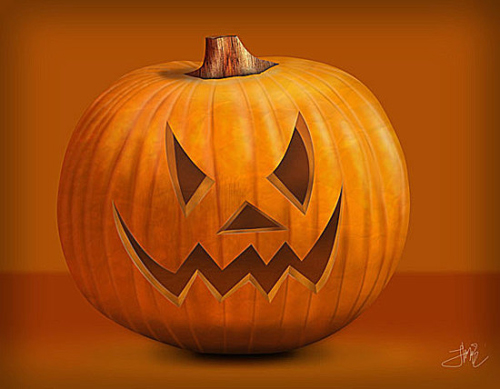 How to Dran a Halloween Pumpkin in Photoshop