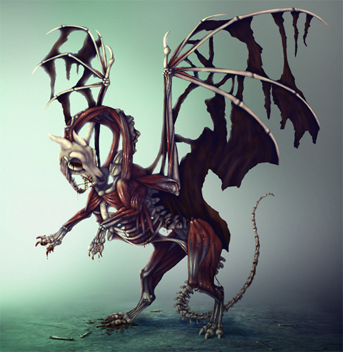 Create Zombie Dragon Concept Art: Painting in Adobe Photoshop