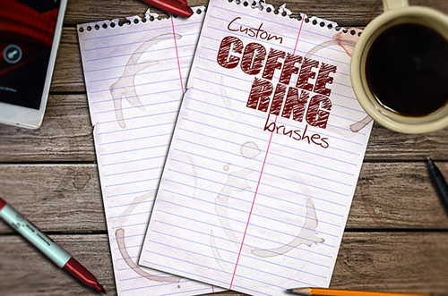 Coffee Ring Brushes for Photoshop