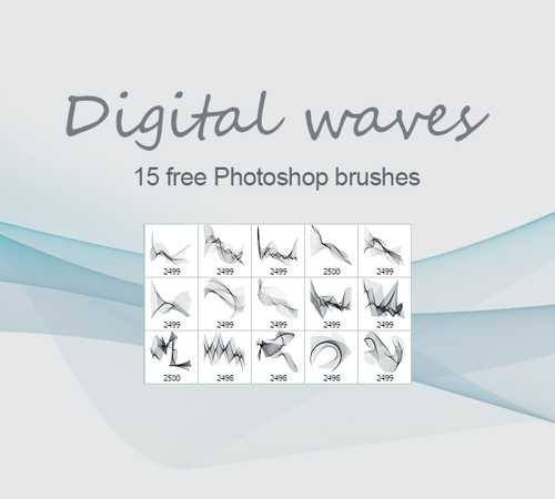 Digital Waves Bruhes for Photoshop