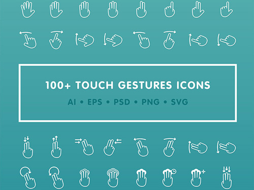100+ free gestures icons