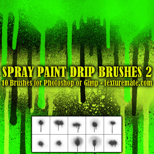 Spray Paint Drip Brush Pack for Photoshop