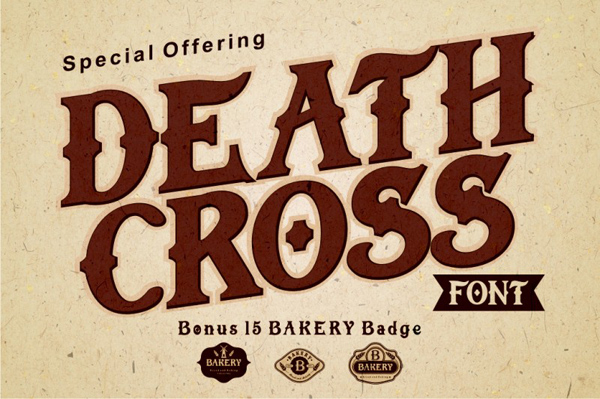 Vintage style custom font with 15 badge templates!