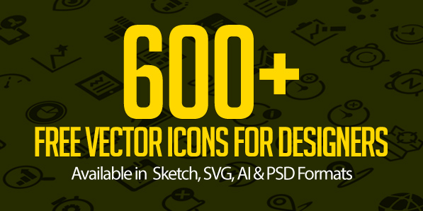 Free Vector Icons: 600+ Icons for App and Web UI