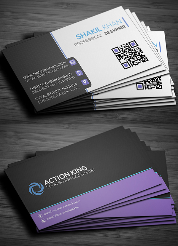 Free Corporat Business Card Template